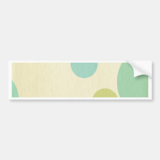 Big, fun, polka dot, multi color fruity, pastels, car bumper sticker