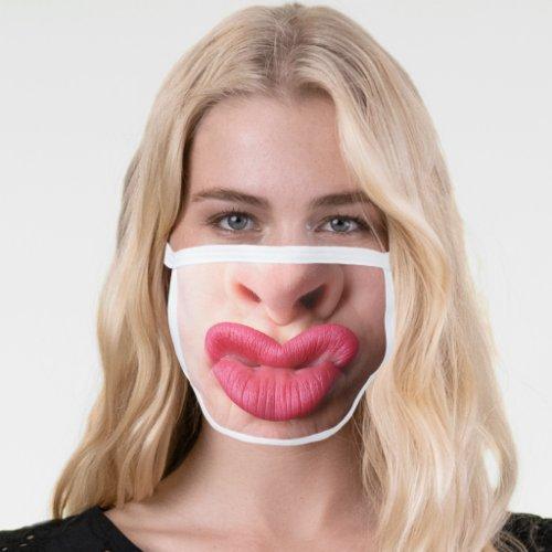 Big Funny Lips Face Mask