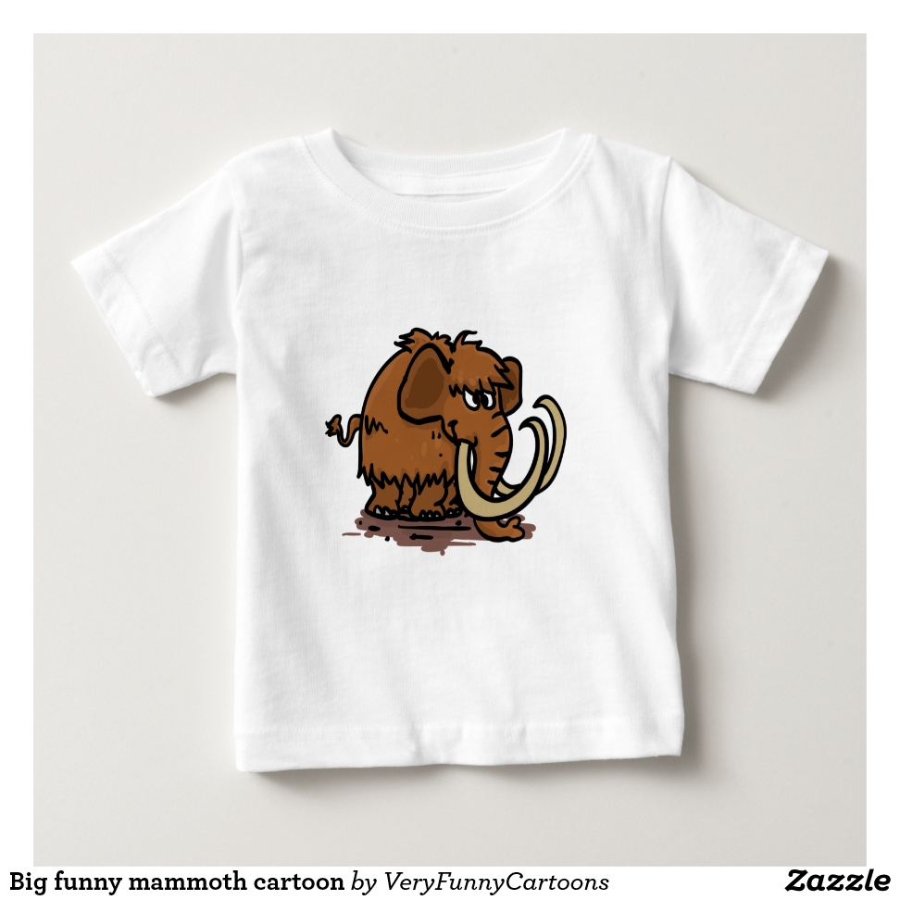 Big funny mammoth cartoon baby T-Shirt - Soft And Comfortable Baby Fashion Shirt Designs