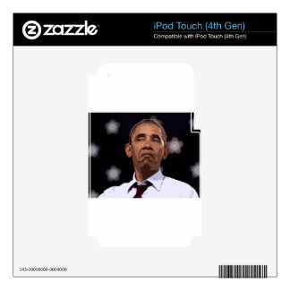 BIG FUNNY OBAMA SKINS FOR iPod TOUCH 4G