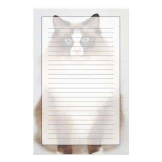 Big Furry Cat Stationery