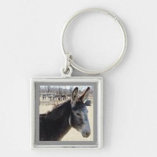 Big Furry Ears Donkey Friend Western Keychain