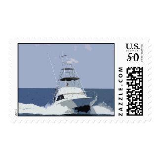 Big Game Fishing Boat Postage Stamp