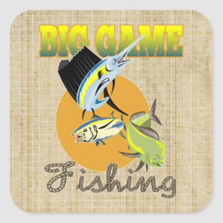 Big Game Fishing Stickers