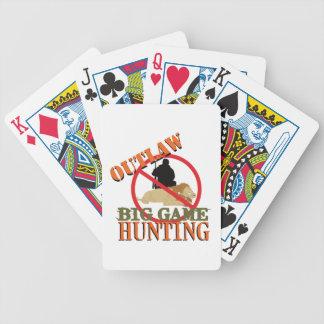 Big Game Hunting Bicycle Playing Cards