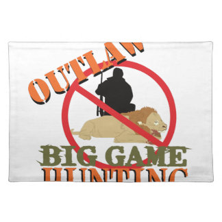 Big Game Hunting Cloth Place Mat