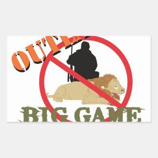 Big Game Hunting Rectangular Sticker