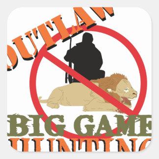 Big Game Hunting Square Sticker
