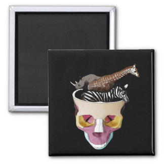 Big Game On The Mind 2 Inch Square Magnet