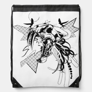 Big Game Skull Graphic Drawstring Backpack