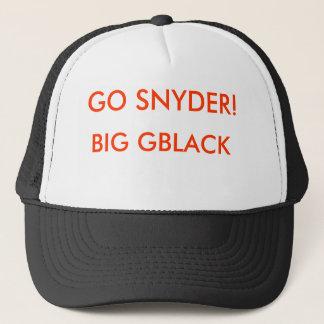 BIG GBLACK, GO SNYDER! TRUCKING CAP