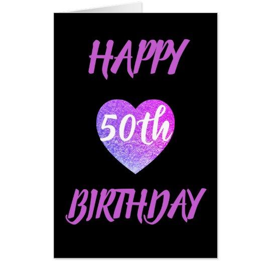 Big Giant Heart 50th Birthday Card