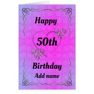 Big Giant Special Pretty 50th Birthday Card