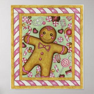 Big Gingerbread Art Print Poster