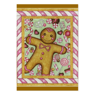 Big Gingerbread Gift Tag Large Business Cards (Pack Of 100)