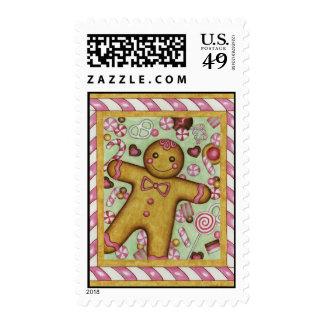 big gingerbread postage stamps