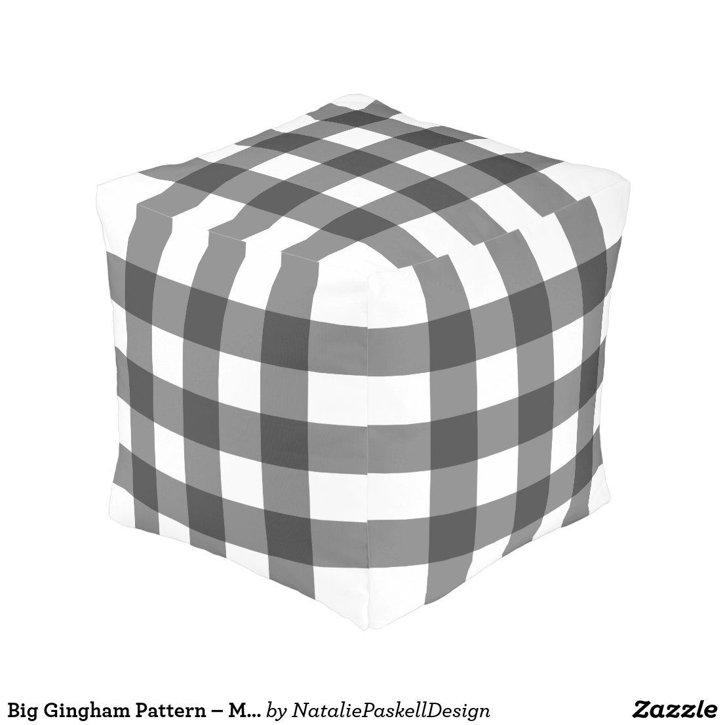 Big Gingham Pattern – Monochrome