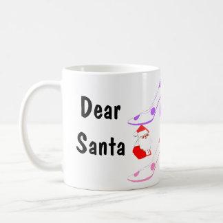 Big Girl Christmas Letters to Santa Coffee Mug