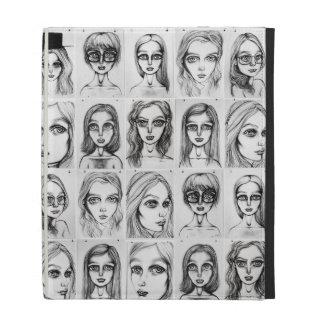 Big Girl Drawings Pattern iPad Case