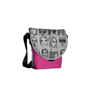 Big Girl Drawings Pattern Mini Bag Messenger Bag