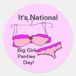 Big Girl Panties DAY Stickers