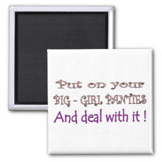Big Girl Panties 2 Inch Square Magnet
