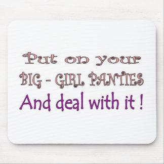 Big Girl Panties Mouse Pads