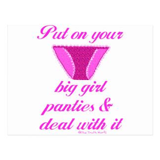 Big Girl Panties Postcard