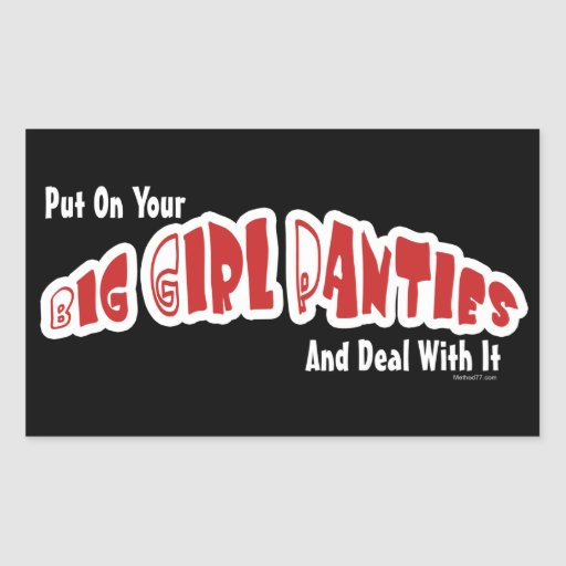 Big Girl Panties Stickers