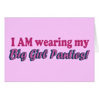Big Girl Panties Text Design Card