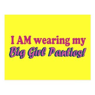Big Girl Panties Text Design Postcard