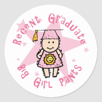 Big Girl Pants Round Stickers