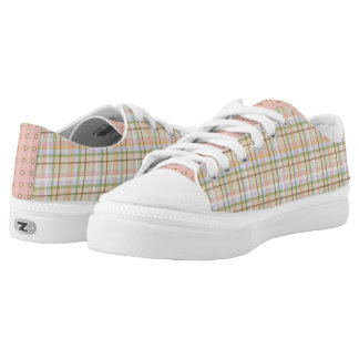 Big Girl Plaid ZipZ Tennis Shoes