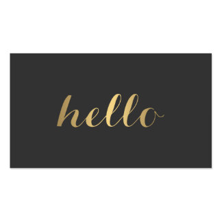 Big Gold Hello II Simply Stated Business Card