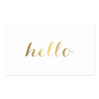 Big Gold Hello Simply Stated Business Card