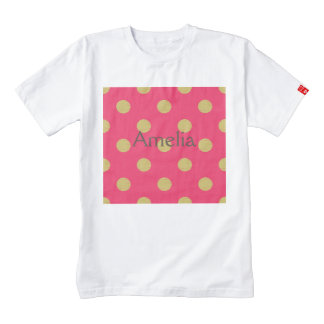 Big gold polka dot,hot pink,trendy,girly,cute,fun, zazzle HEART T-Shirt