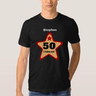 Big GOLD RED STAR Birthday VH BLACK Shirt