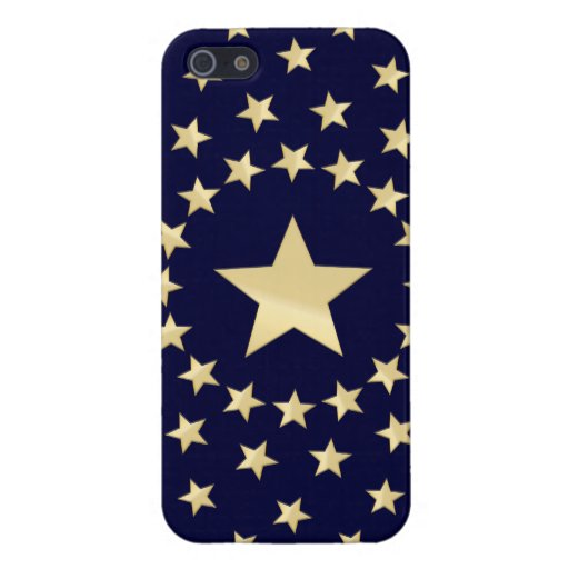 Big Golden Star circled by smaller stars Cover For iPhone SE/5/5s