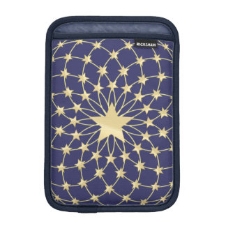 Big Golden Star circled by smaller stars Sleeve For iPad Mini