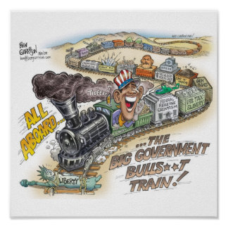 Big Gov Train Print