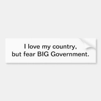 BIG goverment - bumper sticker