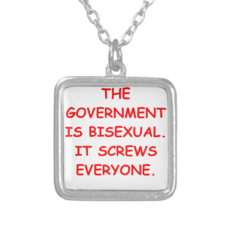 big government personalized necklace