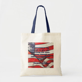 Big Government Quote by Jefferson Tote Bag