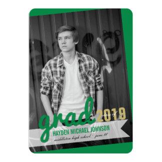 Big Grad Scribbles Photo Graduation Announcement