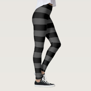 a17090098c513 Big Gray And Black Stripes Halloween Leggings