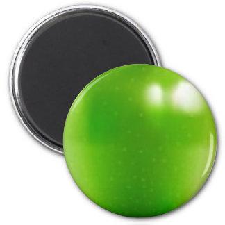 big-green-apple 2 inch round magnet