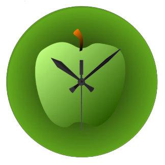 Big Green Apple Wall Clock