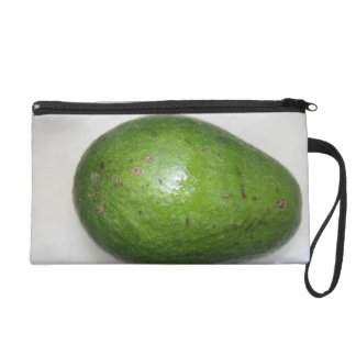 big green avacado fruit picture wristlet clutches