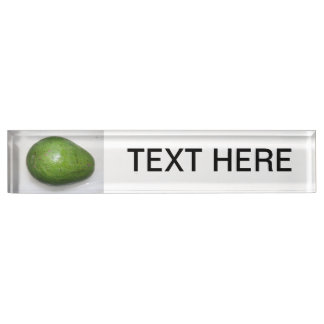 big green avacado fruit picture name plate