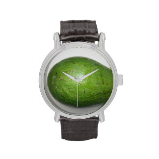 big green avacado fruit picture wrist watch